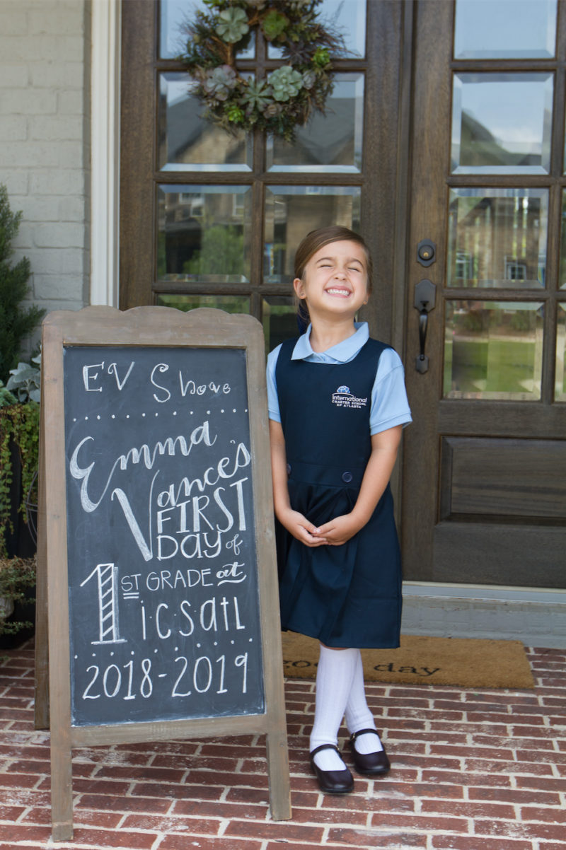 E.V.'s FIRST Day of FIRST Grade!